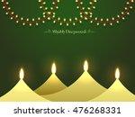 shubh deepawali  happy... | Shutterstock .eps vector #476268331