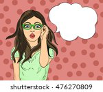girl with glasses surprised.