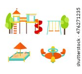 kids playground with elements.... | Shutterstock .eps vector #476271235