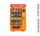 vending machine with food and... | Shutterstock .eps vector #476271631