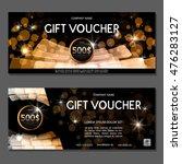 gift voucher. vector ... | Shutterstock .eps vector #476283127