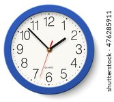 wall clock in classic round... | Shutterstock .eps vector #476285911