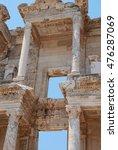 Small photo of Ephesus, Izmir, Turkey, Middle East. Celsius library in Efesus near Izmir.