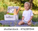 image of a family having picnic ... | Shutterstock . vector #476289544