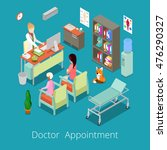 isometric medical cabinet... | Shutterstock .eps vector #476290327