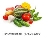 still life of fresh vegetables... | Shutterstock . vector #476291299