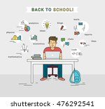 e learning and back to school... | Shutterstock .eps vector #476292541