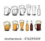 set of beer glassware. mug  cup ... | Shutterstock .eps vector #476295439