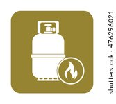 camping gas bottle icon. flat...   Shutterstock .eps vector #476296021