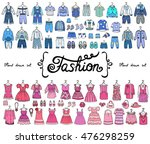 vector set with hand drawn... | Shutterstock .eps vector #476298259