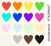 watercolor heart shape splashes ... | Shutterstock .eps vector #476298667