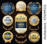 golden sale shields laurel...   Shutterstock .eps vector #476299111