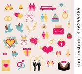 wedding gay vector set elements ... | Shutterstock .eps vector #476299489