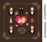 wedding gay vector set elements ... | Shutterstock .eps vector #476299501