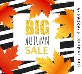 fall sale illustration design ... | Shutterstock .eps vector #476306479