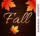 fall sale illustration design ... | Shutterstock .eps vector #476306491