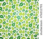 seamless leaf pattern. | Shutterstock .eps vector #476312701