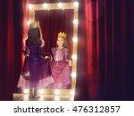 cute little actress. child girl ... | Shutterstock . vector #476312857