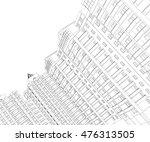 illustration of houses.... | Shutterstock . vector #476313505