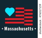 love massachusetts state with... | Shutterstock .eps vector #476317159