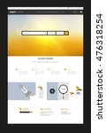 one page website design. vector ...