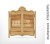 old western saloon door. vector ... | Shutterstock .eps vector #476319391
