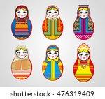 matryoshka dolls in different... | Shutterstock . vector #476319409