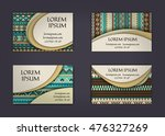 business card or visiting card... | Shutterstock .eps vector #476327269