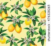 lemon vector pattern.seamless... | Shutterstock .eps vector #476328265