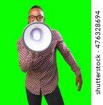 Black Man With Megaphone