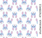 pattern. rabbit. icons. vector... | Shutterstock .eps vector #476338411