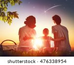 family picnicking together.... | Shutterstock . vector #476338954