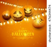 Halloween Greeting Card With...