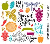 fall  autumn sale design... | Shutterstock .eps vector #476346154