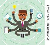 flat design multitasking...   Shutterstock .eps vector #476349115