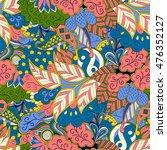 tracery seamless calming... | Shutterstock . vector #476352127