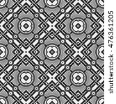 monochrome seamless pattern...   Shutterstock .eps vector #476361205