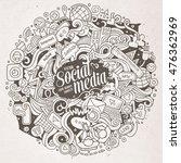 cartoon cute doodles hand drawn ... | Shutterstock .eps vector #476362969