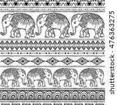 Pattern With Baby Elephant Mad...