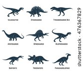 set of dinosaurs vector icons ... | Shutterstock .eps vector #476367829