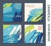 vector set of four different... | Shutterstock .eps vector #476368465
