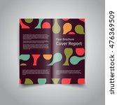 vector two fold brochure design ... | Shutterstock .eps vector #476369509