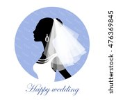 bride silhouette. greeting card ... | Shutterstock .eps vector #476369845