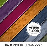 colorful wooden vector... | Shutterstock .eps vector #476370037