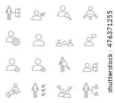 human resource icon set outline ... | Shutterstock .eps vector #476371255