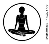yoga  vector icon | Shutterstock .eps vector #476375779