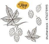 set of vector sketches of... | Shutterstock .eps vector #476375995