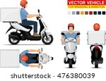 delivery scooter.  doors can be ... | Shutterstock .eps vector #476380039
