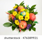 Bouquet From Flowers And Fruit...
