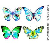 butterfly watercolor  isolated... | Shutterstock . vector #476391541